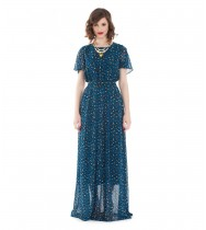 שמלת מוזמביק כחול מנומר