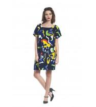 שמלת אוברסייז צבעונית