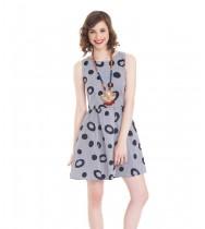 שמלת קניה כחול לבן