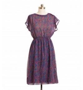 שמלת וינטג' פייזלי
